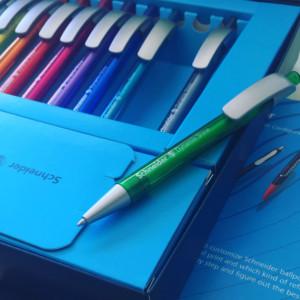 Kaliteli logo baskılı kalemler.